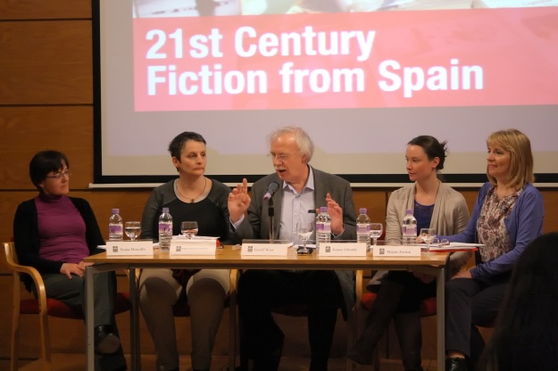 Librarians' panel, L-R: Sonia Morcillo-Garcia (University of Cambridge), Andrea Meyer Ludowisy (IGRS), Geoff West (ACLAIIR Chair/British Library), Joanne Edwards (University of Oxford), Mayte Azorin (Instituto Cervantes, London).